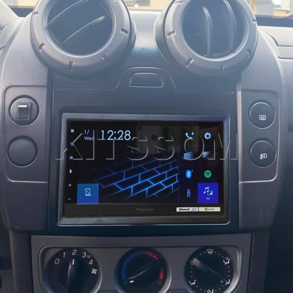 "Multimídia Pioneer Ecosport Fiesta 2004 2005 2006 2007 2008 2009 2010 2011 2012 2013 Carplay Android Auto TV 7"""